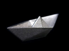 Paper Boat steel in Polished Nickel Steel