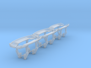 Set of 6 -  Bumper/Chassis Mounted Time Attack/Gt  in Smooth Fine Detail Plastic
