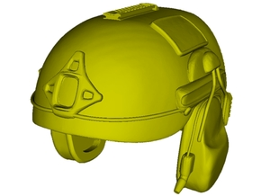 1/18 scale AirFrame ballistic helmet x 1 in Smooth Fine Detail Plastic