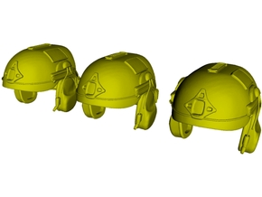 1/18 scale AirFrame ballistic helmets x 3 in Smooth Fine Detail Plastic