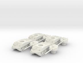 M4A3 76 Sharman division (4 pieces) scale 1/100 in White Natural Versatile Plastic