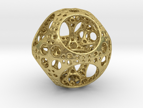 Apollonian Octahedron Mini in Natural Brass
