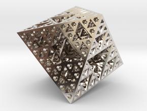 Sierpinski Octahedron Small in Platinum