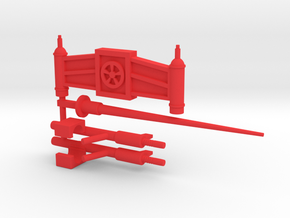 Galactic Defender Mega Weapons in Red Processed Versatile Plastic
