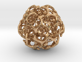 Ball 20 in Polished Bronze (Interlocking Parts): 15mm