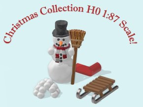 Christmas Collection H0 1:87 Scale! in Smooth Fine Detail Plastic