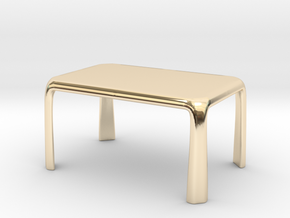1:50 - Miniature Modern Dining Table  in 14k Gold Plated Brass