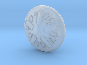 Sand dollar d00 in Smooth Fine Detail Plastic