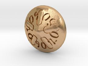 Sand dollar d00 in Natural Bronze