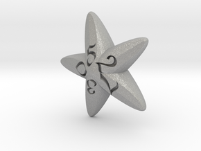 Starfish d10 in Aluminum