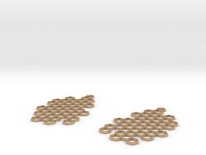Honeycomb Drop Earrings in Natural Bronze