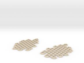 Honeycomb Drop Earrings in 14k Gold Plated Brass