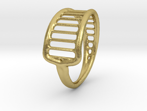 Ring 15 in Natural Brass