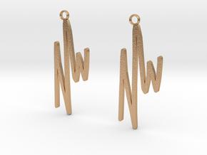 NWD Graffiti Earrings in Natural Bronze