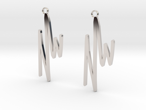 NWD Graffiti Earrings in Platinum