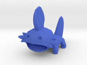 Low Poly Mudkip in Blue Processed Versatile Plastic