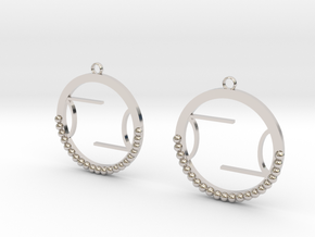 Wright Hoop Earrings in Rhodium Plated Brass