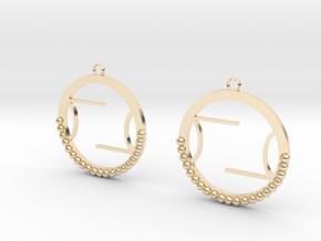 Wright Hoop Earrings in 14k Gold Plated Brass