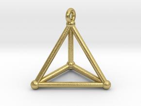 Hypersimplex Pendant in Natural Brass