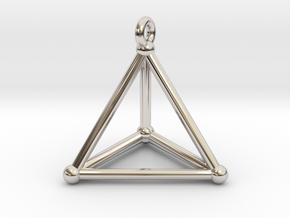 Hypersimplex Pendant in Rhodium Plated Brass