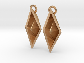 Paper Boat Earring in Natural Bronze