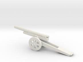 13cm L 35 Kanone  09 steel 1/285 6mm  in White Natural Versatile Plastic