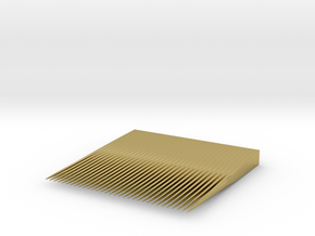Minimalist Compact Comb  in Natural Brass