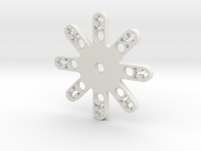 LEGO THRUSTER STAR SMALL in White Natural Versatile Plastic