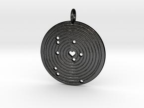 Solar Alignment Memento in Matte Black Steel
