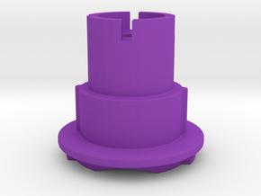 Quadlock to Garmin Male Mount in Purple Processed Versatile Plastic