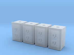 1/12 Dual Outlet, Qty 4 in Smoothest Fine Detail Plastic