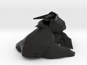Alien Hover Tank  in Black Natural Versatile Plastic: 15mm