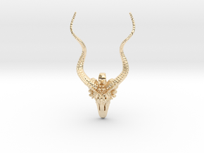 Kudu Gifts - Pendant - Vessels in 14k Gold Plated Brass