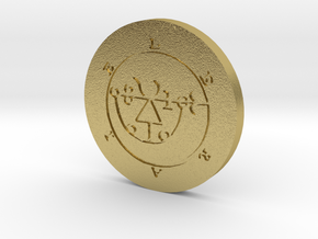 Leraje Coin in Natural Brass
