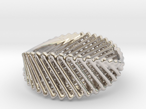Ring 21 in Rhodium Plated Brass