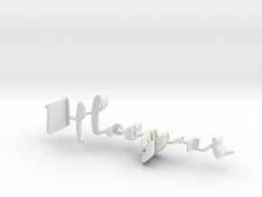 3dWordFlip: Hayri/Kezban in White Natural Versatile Plastic