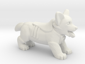 Hope Corgi in White Natural Versatile Plastic: Medium