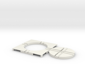 T-65-wagon-turntable-48d-100-corners-flat-1a in White Natural Versatile Plastic