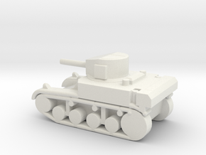 1/200 Scale Stuart M3A1 Light Tank in White Natural Versatile Plastic