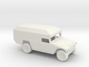 1/200 Scale HUMVEE Mini-Ambulance M996 in White Natural Versatile Plastic
