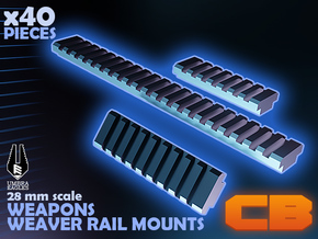CB Umbra Eagles Weaver Rail Mounts S* 28mm in Smoothest Fine Detail Plastic