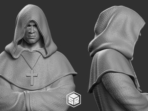 Monk Character in White Natural Versatile Plastic: 1:18
