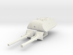 E 100 maus turret (150mm and 128mm) scale 1/56 in White Natural Versatile Plastic