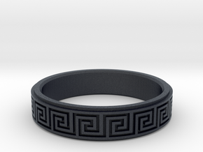 Greek Fieze Pattern Ring 20mm in Black PA12