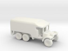 1/200 Scale Morris Ambulance in White Natural Versatile Plastic
