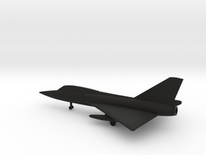 Convair F-106B Delta Dart in Black Natural Versatile Plastic: 6mm