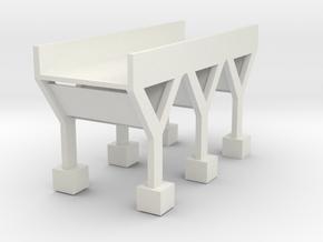 bridge in White Natural Versatile Plastic