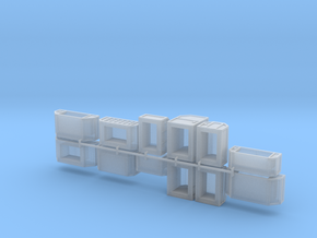 Cargo x12 angled set in Smoothest Fine Detail Plastic: 1:400