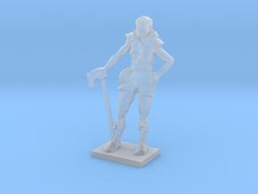 Female Warrior in Smooth Fine Detail Plastic