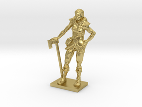 Female Warrior in Natural Brass